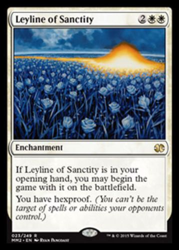 Leyline of Sanctity NM M20 MTG Magic The Gathering White English Card