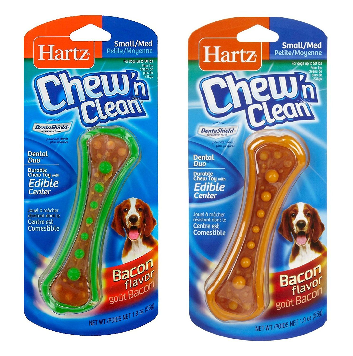 Hartz Chew N Clean Dental Duo Toy Large Size Set Of Two