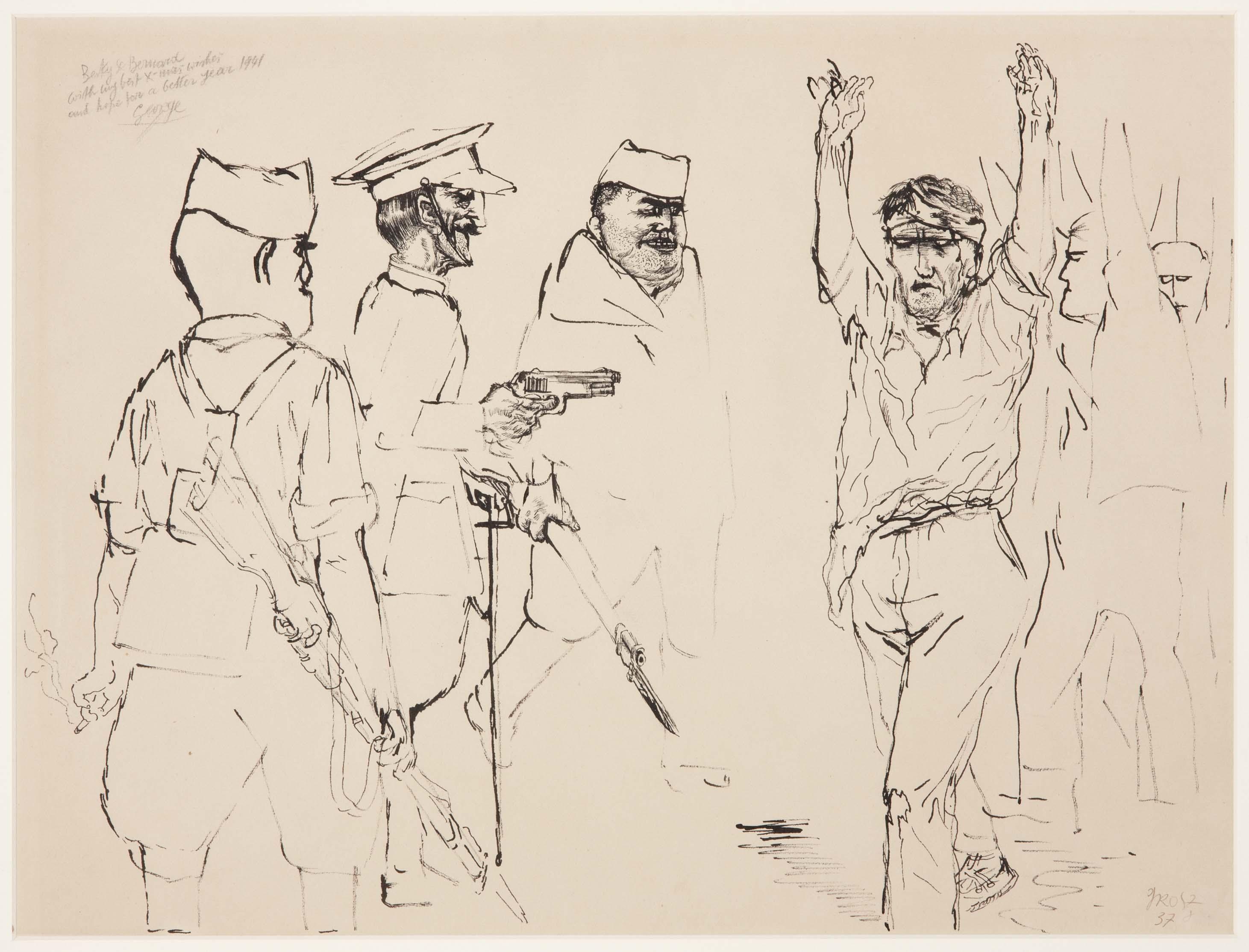 George Grosz (Berlín, Alemania, 1893 - 1959). Spain (España), 1937. Tinta a  plumilla y lápiz sobre papel Ingres. htt… | Ilustraciones, Artistas,  Historia del arte