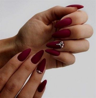 45 ideas nails ideas matte almond for 2019  red acrylic