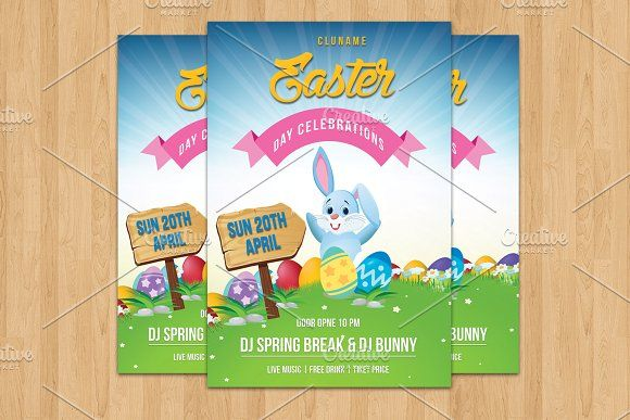 Easter Party Flyer Template-V509 by Template Shop on @creativemarket