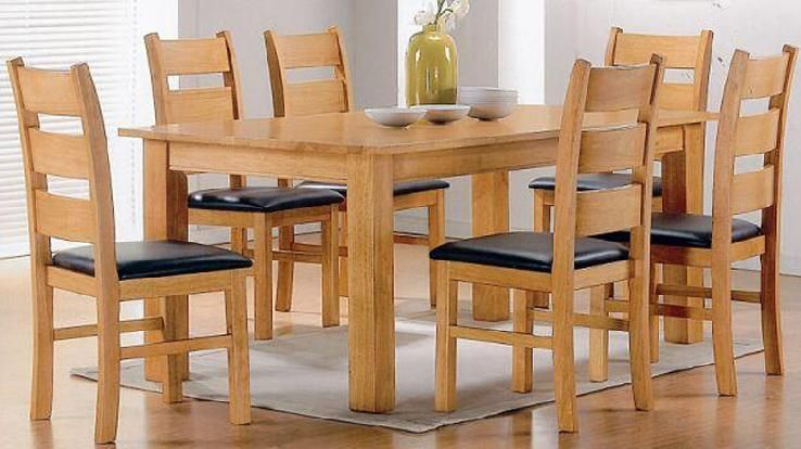 Wooden Kitchen Table And Chairs Seat Beech Dining Set Quality