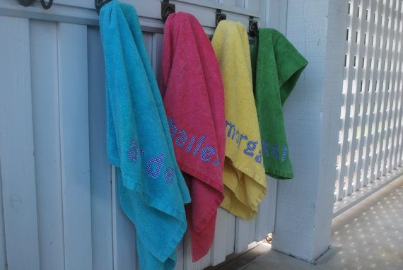 Personalized Name Towel Great gift for teens, kids, college