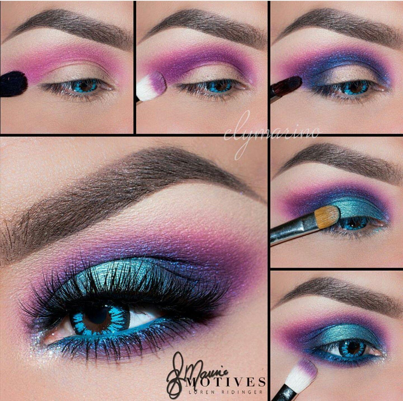 Electric Neon Turquoise Blue Purple Pink Eye Makeup Motivescosmetics Eyemakeupcopper In 2020 80s Makeup Trends 80s Eye Makeup Makeup