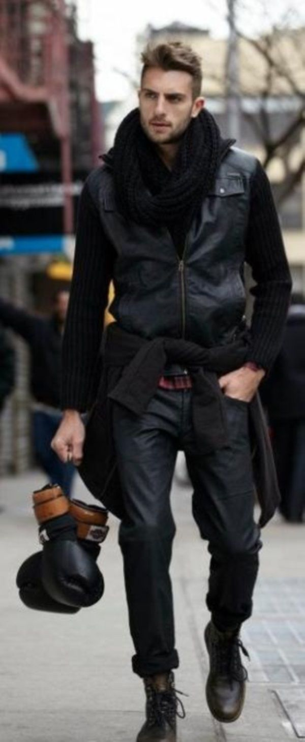 awesome accessory: black boxing gloves // all black everything // men's  fashion // style