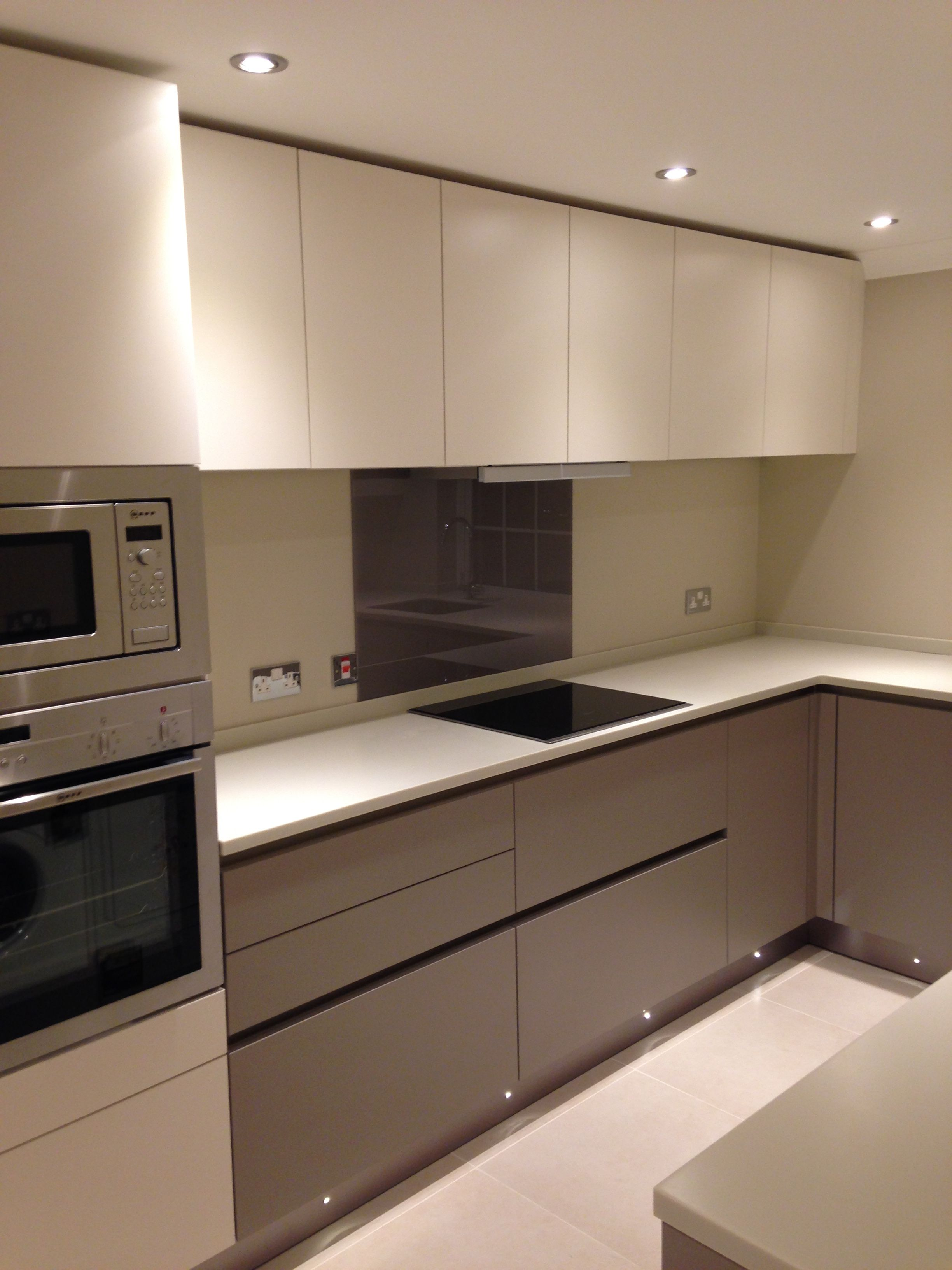 Bespoke, contemporary kitchen fitted as part of a modern