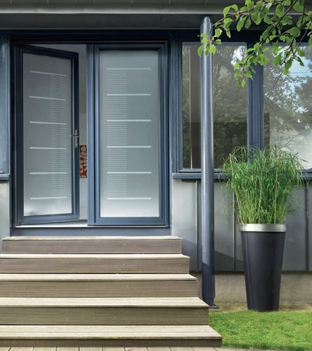 Porte DEntre Vitre En Aluminium Toise KLine  Deco