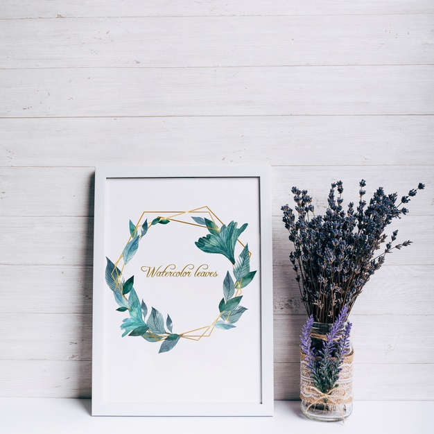 Download Beautiful Spring Frame Mockup For Free Personalized