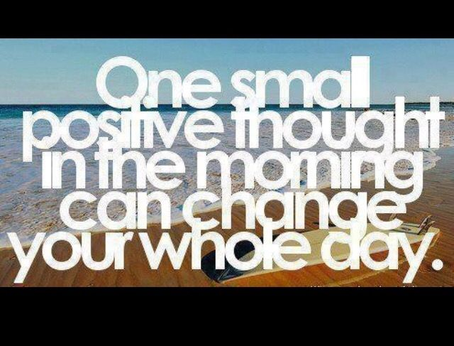 One small positive thought.