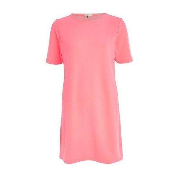 bright pink t shirt dress