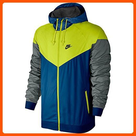 e8e27a69c0762 Nike Mens Windrunner Hooded Track Jacket Blue Jay/Cactus/Black ...