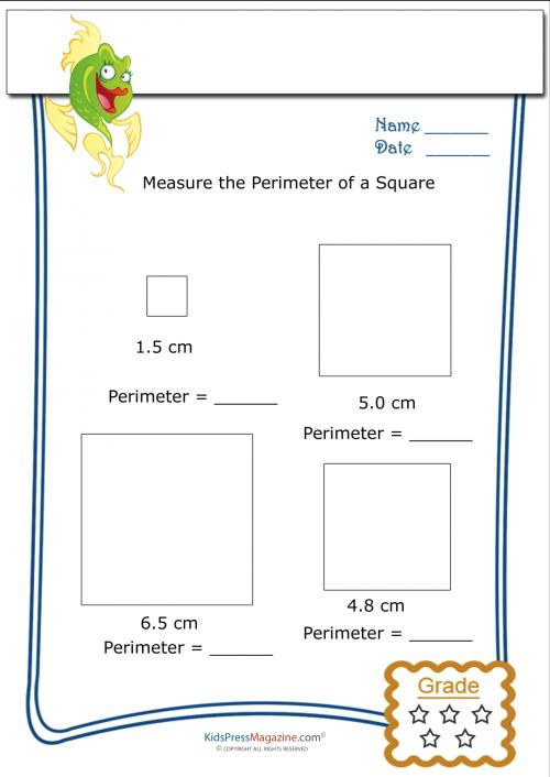 measure perimeter worksheet square 4 geometry perimeter worksheets area worksheets. Black Bedroom Furniture Sets. Home Design Ideas