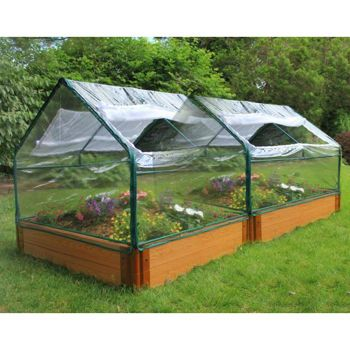Frame It All 4 X 8 X 12 Raised Garden Bed With Greenhouse Top Raised Garden Beds Building A Raised Garden Garden Beds
