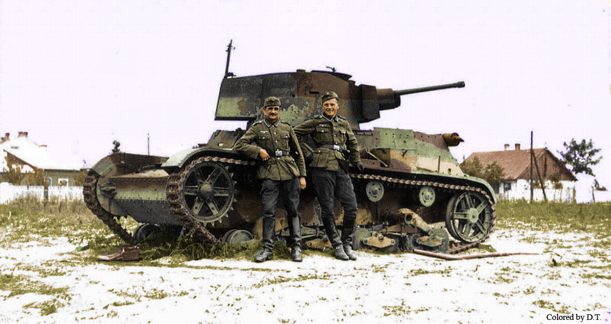 7Tp Polish tank ambadoned. My colored picture.