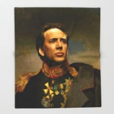 Nicolas Cage - Replacefa… Throw Blanket