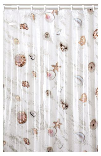 Seashell Shower Curtain Seashell Shower Curtain Bathroom Shower