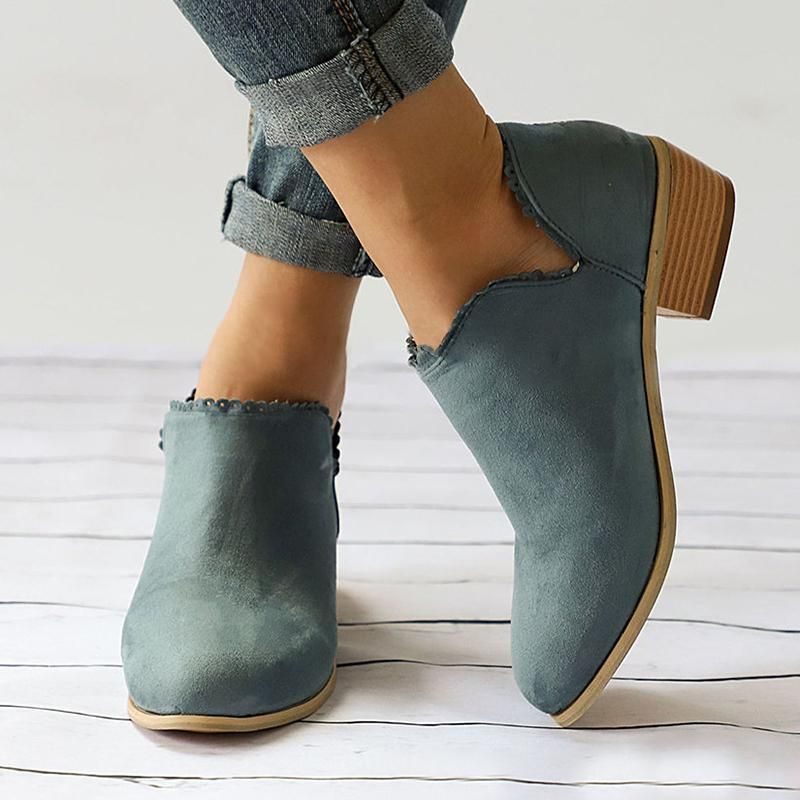 Booties in Comfort Women Size Dress 2018 Slip Plus Casual On Shoes 1C8Fqd8wI