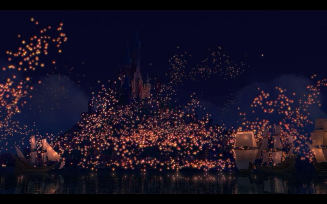 Tangled Lanterns Wallpaper