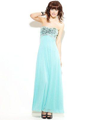 Speechless Juniors Dress Strapless Sweetheart Gown Juniors Prom