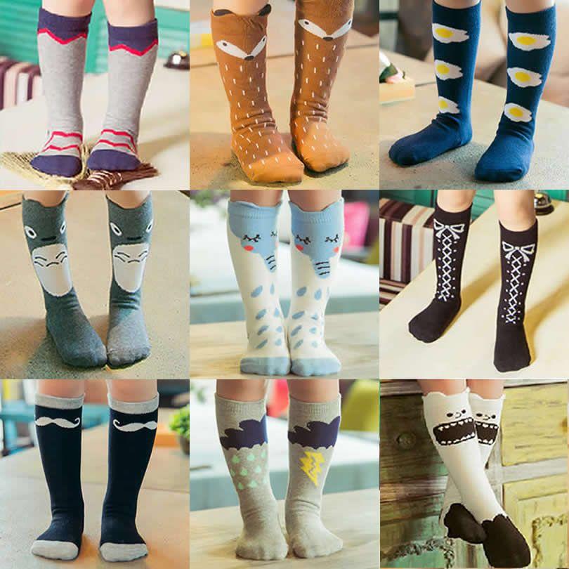pas cher enfants renard chaussettes genou haute b b boot sock jambi res totoro chaussettes. Black Bedroom Furniture Sets. Home Design Ideas