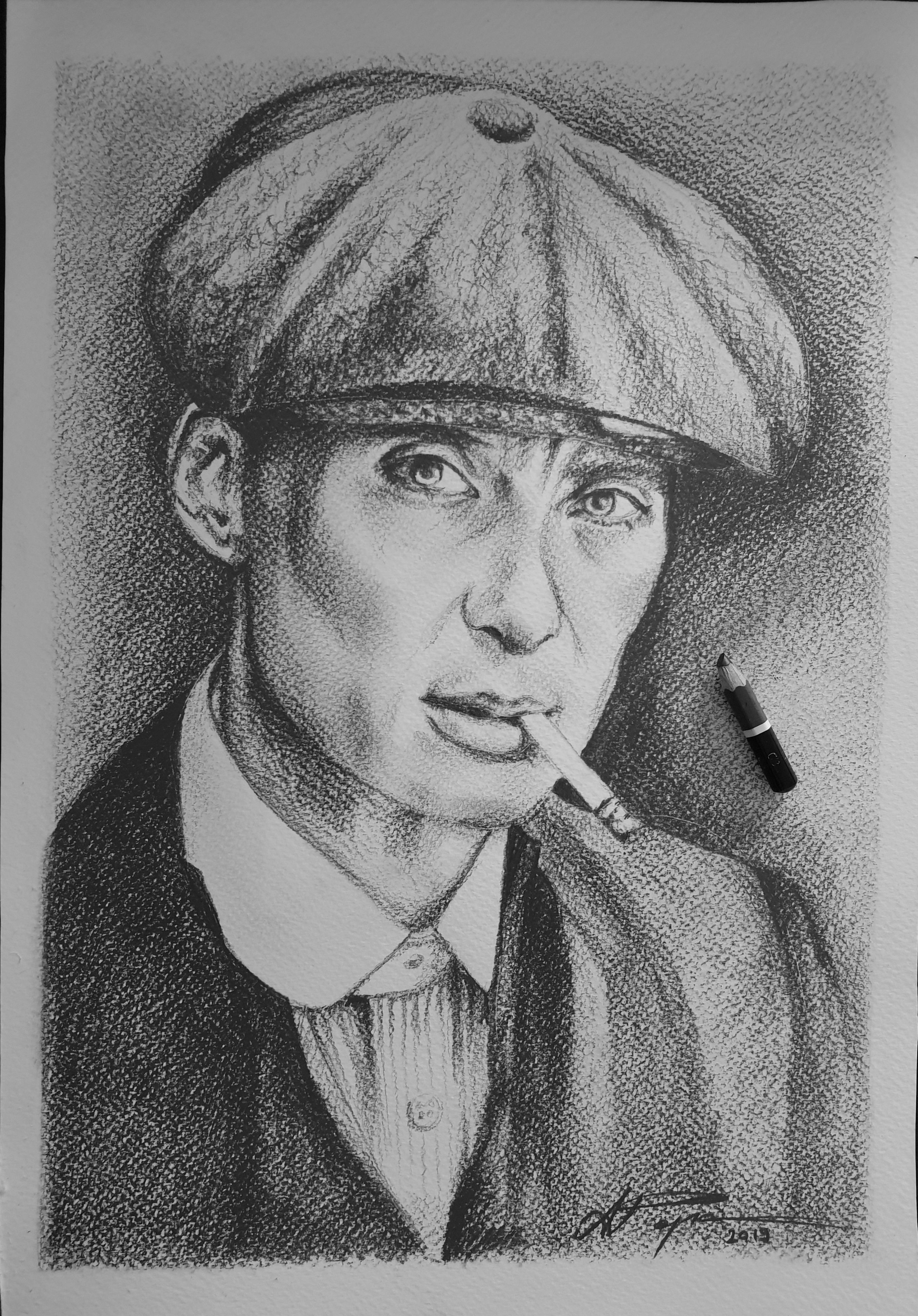 Peaky Blinders Tommy Shelby Original Drawing Peaky Blinders Tommy Shelby Peaky Blinders Peaky Blinders Poster