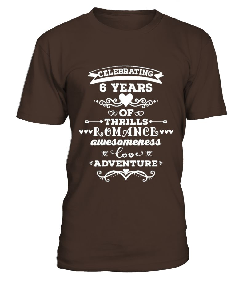 6th Wedding Anniversary T Shirt 6 Year Vintage Gift Wedding