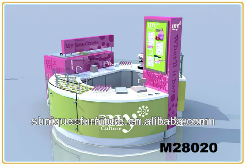 customized mall bubble tea kiosk franchise design ideas juice bar kiosk manufacturer  1