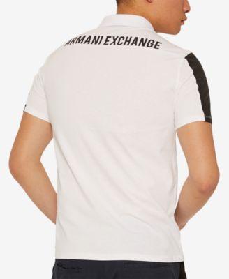 34fd9b644e52fd Armani Exchange Mens 1991 Polo - White L | Products in 2019 | Polo ...