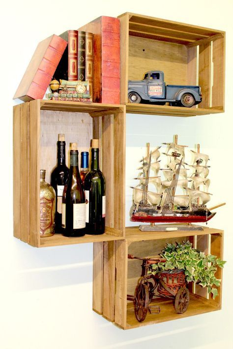 Photo of Diy Box Shelf Wooden Crates Shelves 70 Ideas
