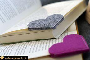 Last Minute Geschenke: Lesezeichen nähen   Mit Liebe gemacht