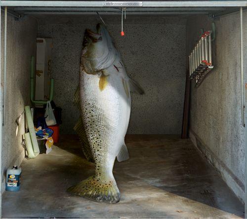 Style Your Garage Creative 3d Garage Doors Stickers: Fotoplane Für Garagentor Fisch / Garage Mural Fish