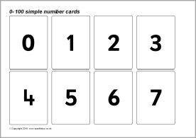 0 100 Simple Number Cards Sb128 Sparklebox Printable Flash Cards Kindergarten Songs Flashcards