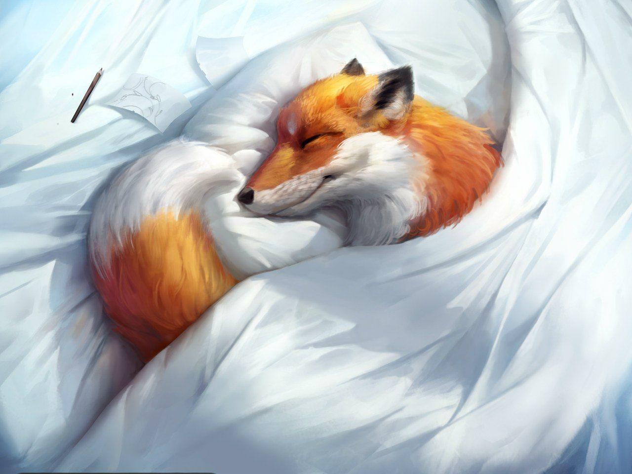 Открытки пожеланиями, спокойной ночи лиса открытки