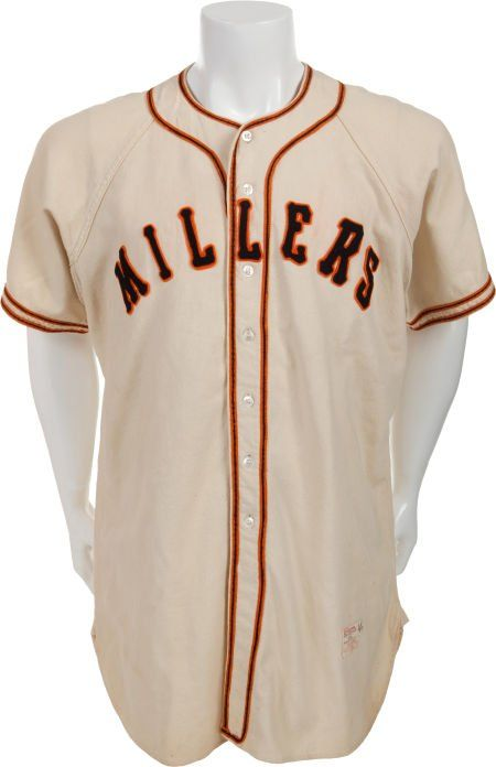 new style 83600 c5ee6 80080: 1951 Willie Mays Game Worn Minneapolis Millers J ...
