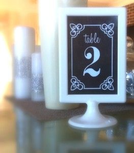 wedding table numbers free download save money print cut and