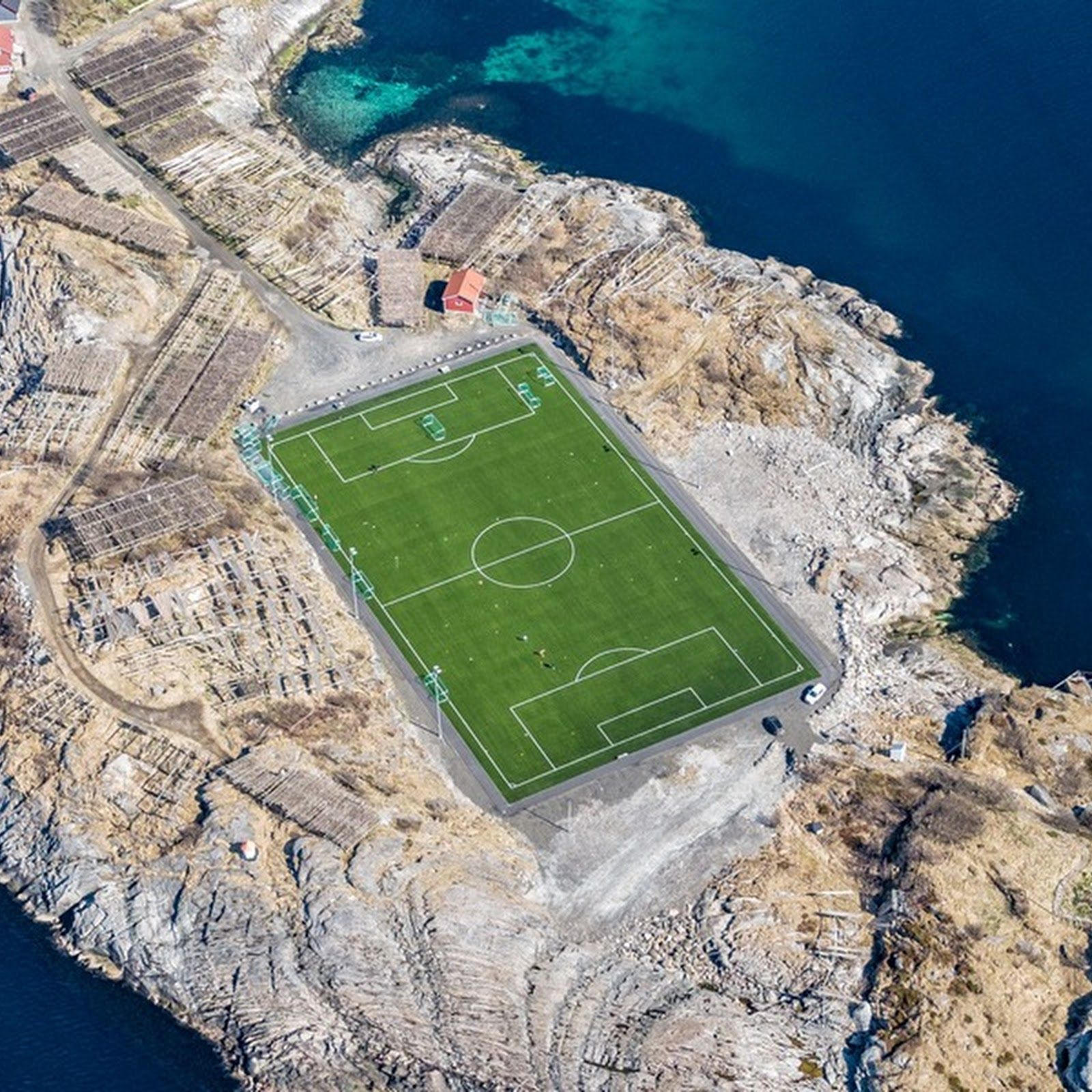 This Football Stadium in Henningsvær Football stadiums
