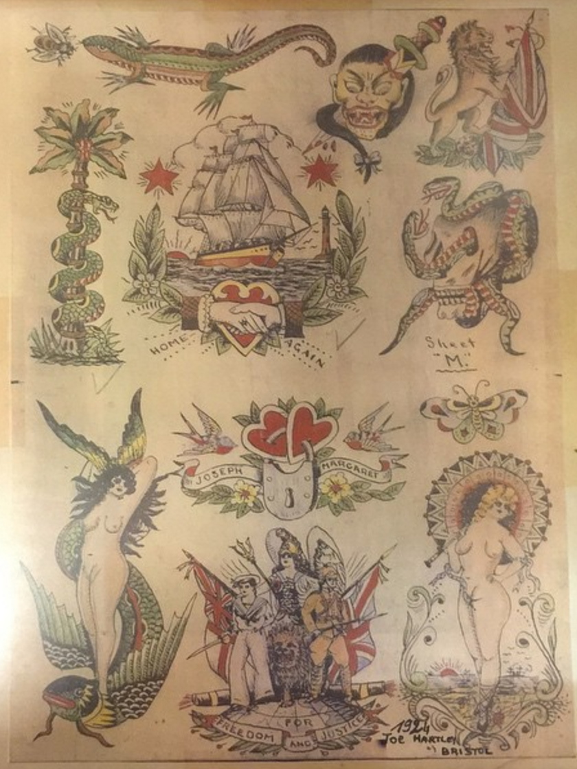182d8cc90 Joe Hartley and Les Skuse, 1923 Traditional Tattoo Old School, Traditional  Tattoo Art,