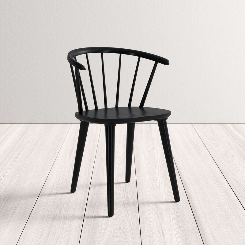 Ginny Solid Wood Dining Chair Reviews Allmodern In 2020 Solid Wood Dining Chairs Dining Chairs Black Metal Dining Chairs