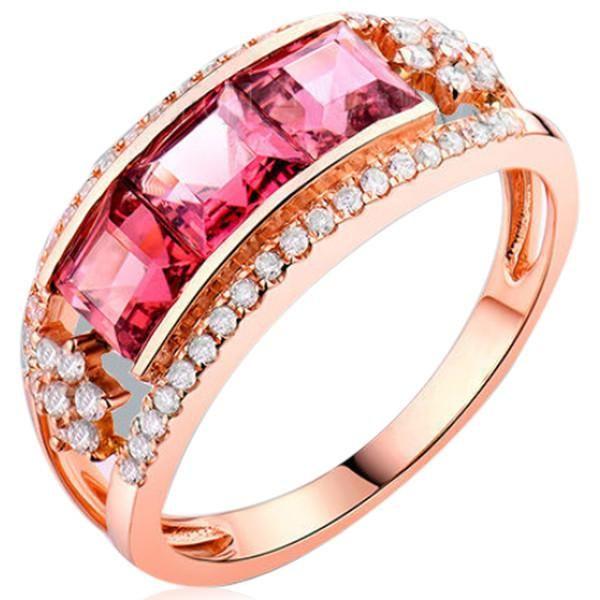 La Princesse - Pink Tourmaline #Diamond Rose Gold #StatementRing  #LaMiaCara #followme