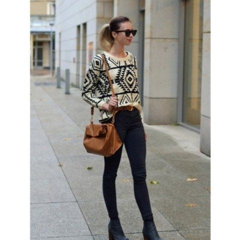 Aztec Knitted Pullover