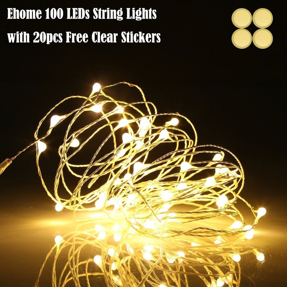 100 Led String Light Party Fairy Christmas Outdoor Waterproof Strip Xmas Decor Ehome Christmaspart Copper Wire Lights Led String Lights Outdoor String Lights