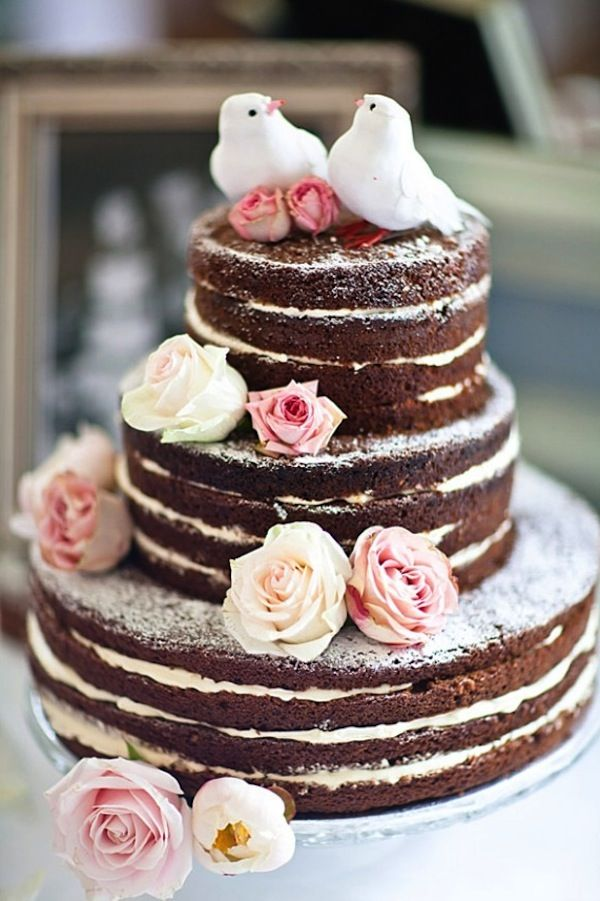Naked Cake Non Traditional Wedding Like It Except The