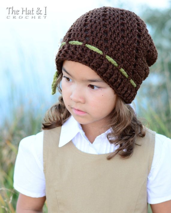 CROCHET PATTERN Little Blooms Slouchy a slouchy by TheHatandI