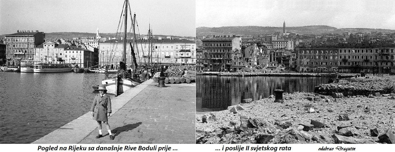 Pogled Na Rijeku S Dananje Rive Boduli Prije I Poslije II Svjetskog Rata Foto Dragutin