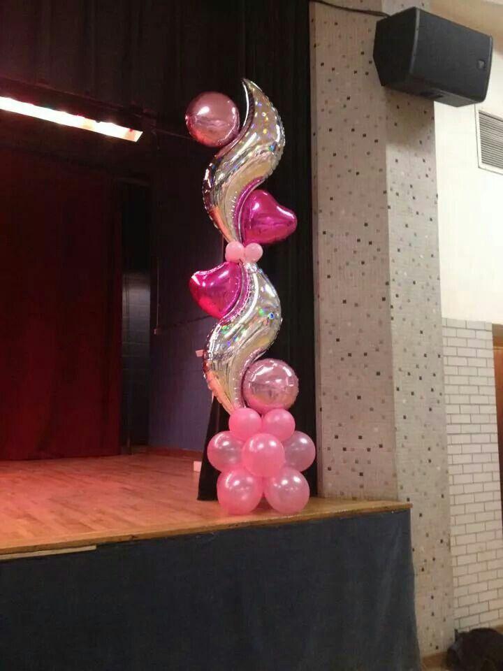Columns balloon decoration decoracion globos Pinterest Globo - imagenes de decoracion con globos