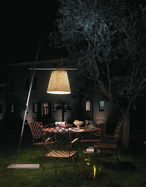 Miami Floor Standing Lamp Contemporary Brass Stainless