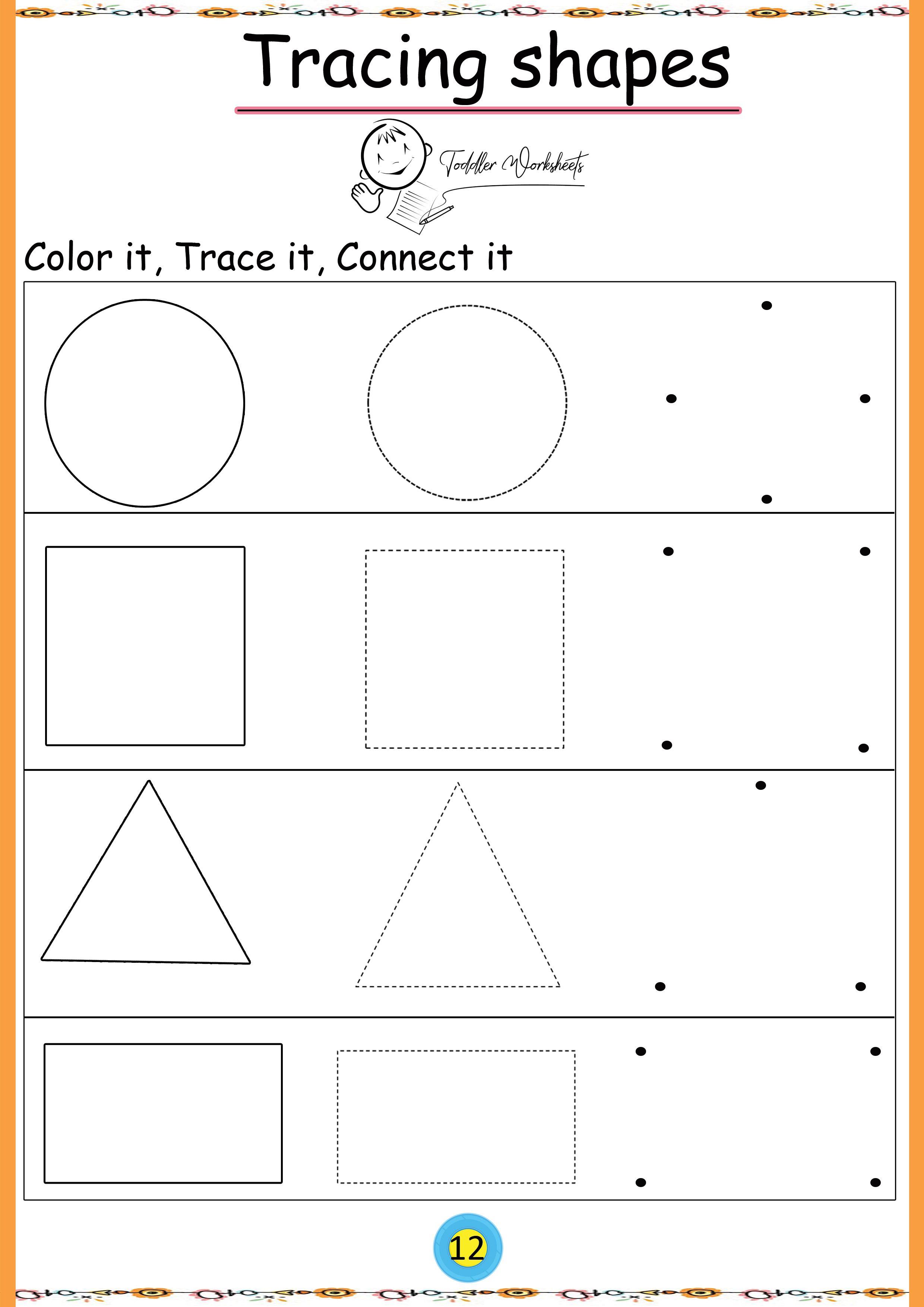 Free Preschool Shapes Worksheets