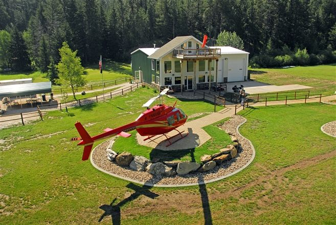 Take a helicopter ride in South Dakota! Provides a great view!
