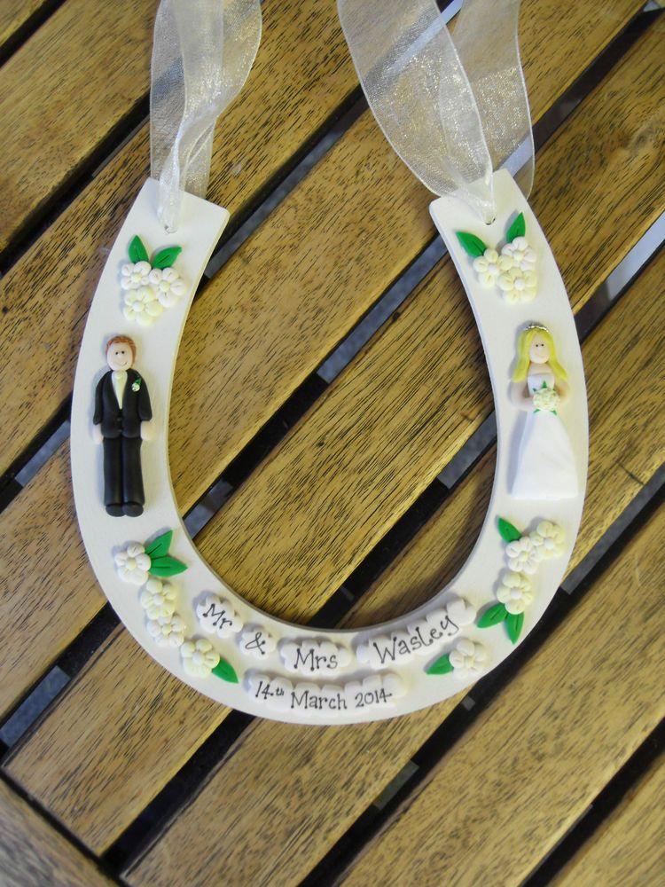 Details About Handmade Personalised Wedding Horseshoe