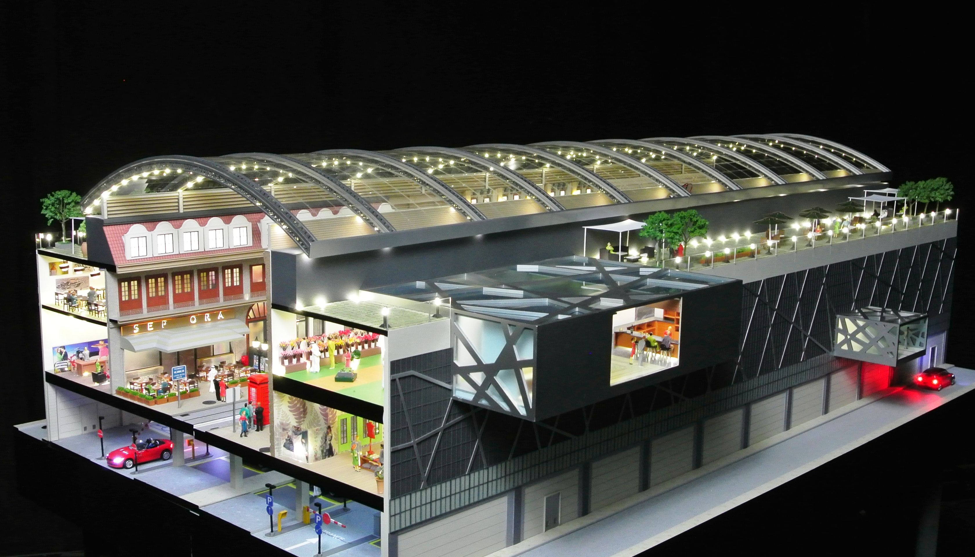 Architectural Zoom Section Cut Model #modelmaking